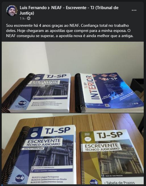 Apostila NEAF do TJ SP Escrevente
