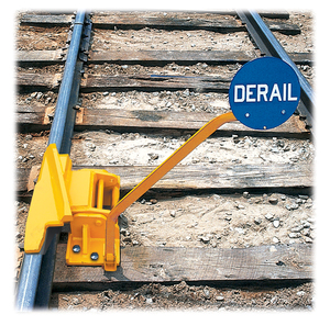 DERAIL WITH SIGN - LEFT - SIZE 5 \\\\\ \\\\\: http://www.saferackllc.ca/product/154168-2-0/derail-with-sign-left-size-5