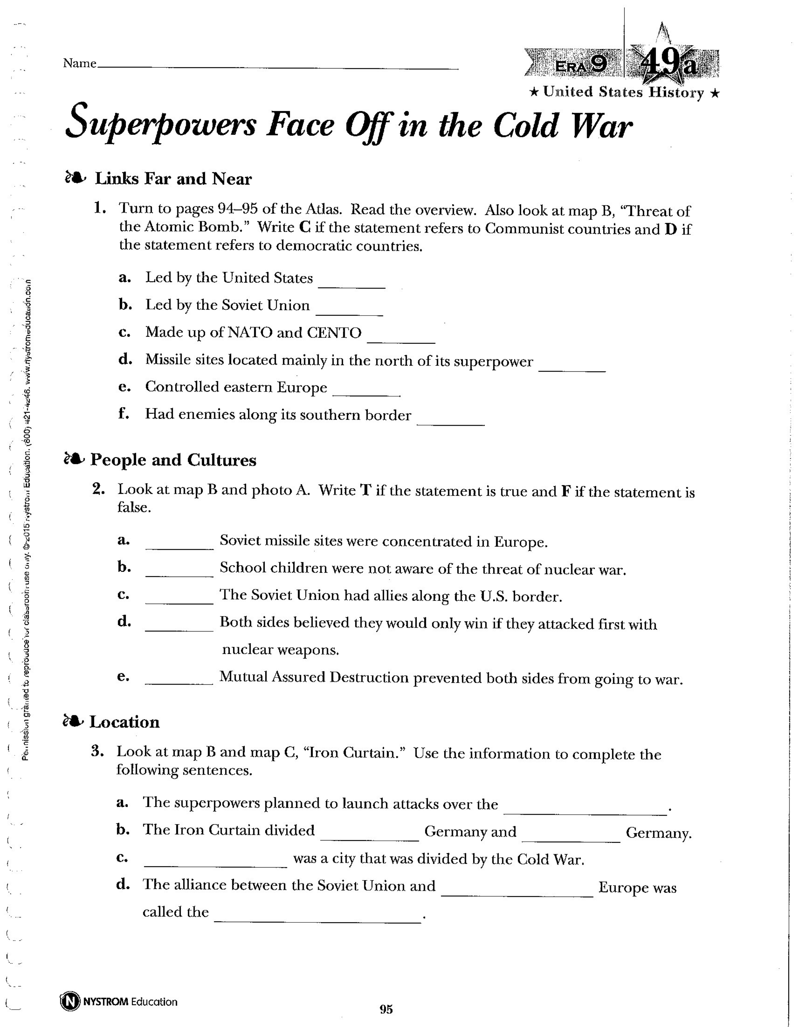 NAUSH 49 Superpowers Face Off in the Cold War - Amy ...