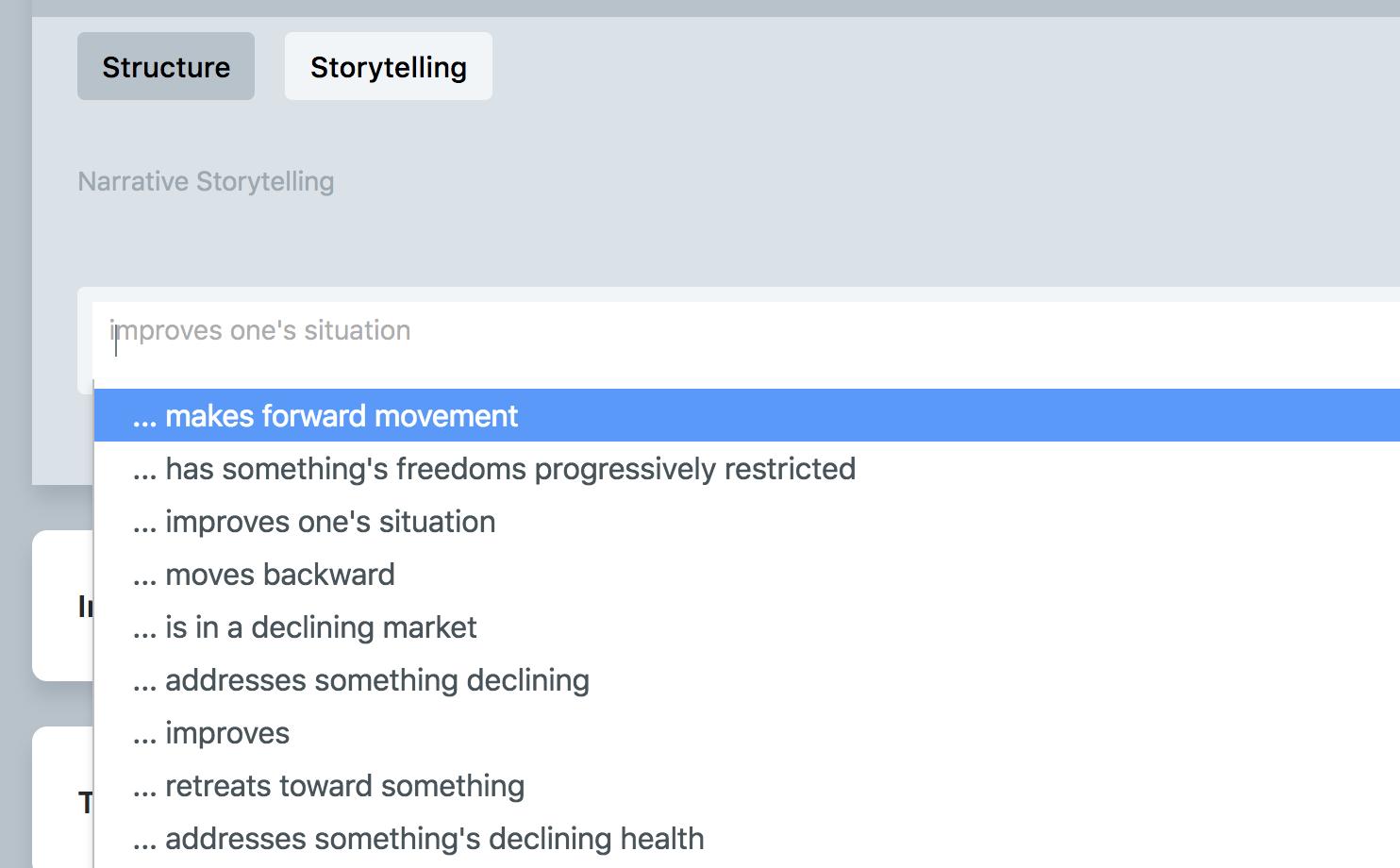 Choosing New Storytelling