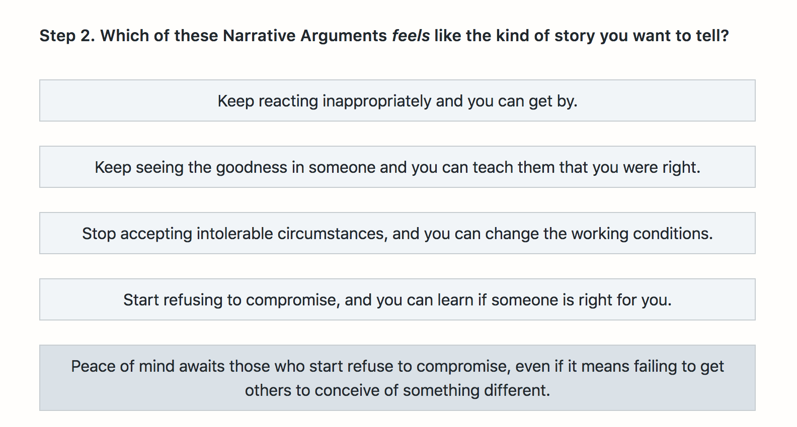 Narrative Arguments