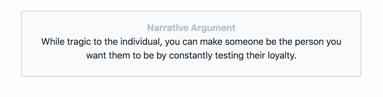 The Narrative Argument