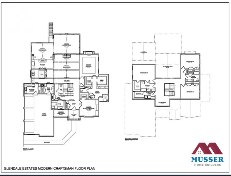 Glendale Estates Modern Craftsman Model Home Image