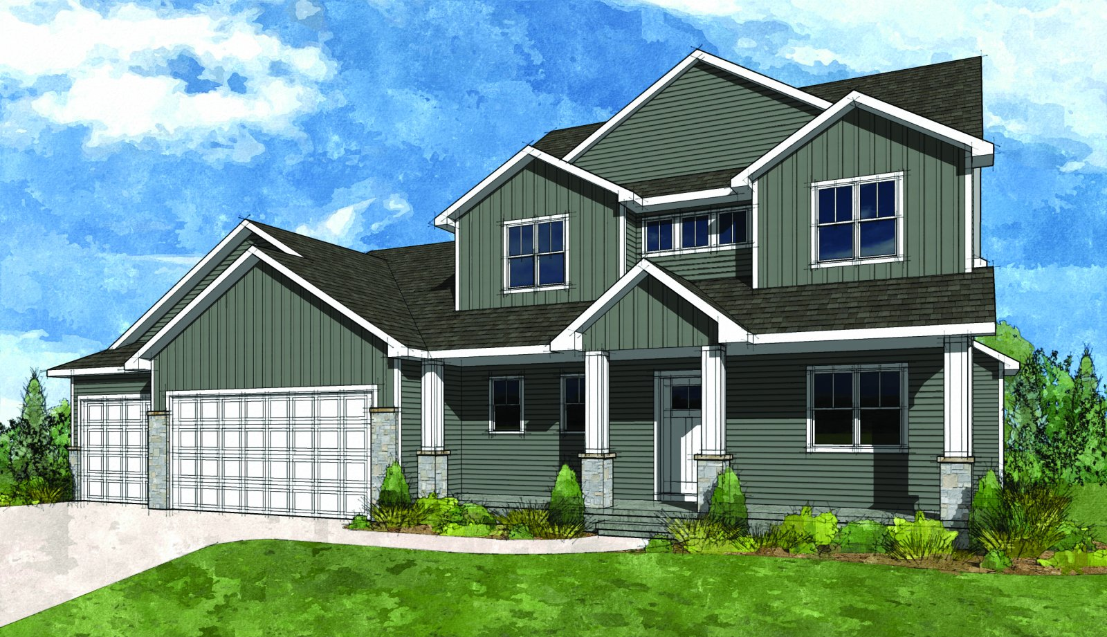 Fox cities hba parade of homes for Two story farmhouse oak park