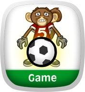 Monkey Soccer: Math League Game App Icon