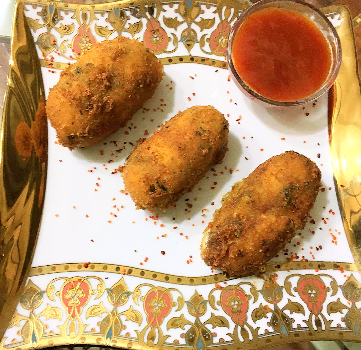 Cheesy Vegetable Rice Fingers