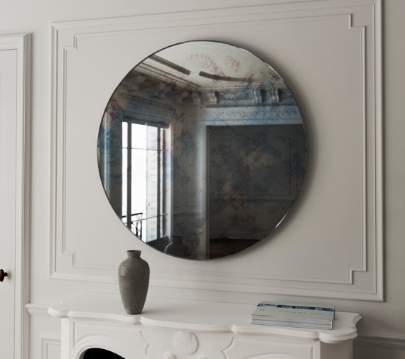 2. The Rhea – A Round Antiqued Mirror