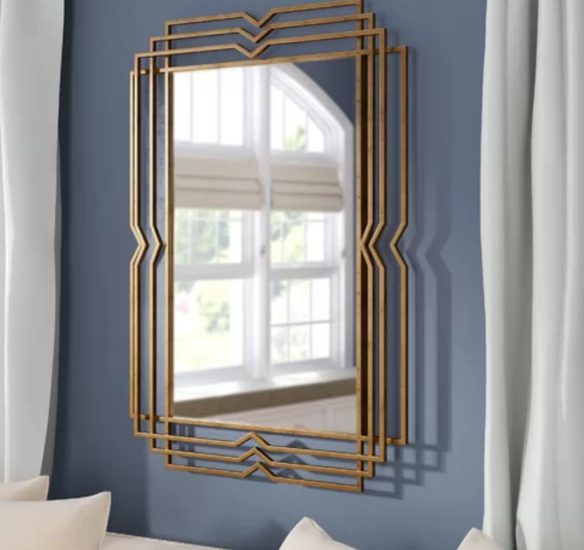 Gold Frame Art Deco Mirror