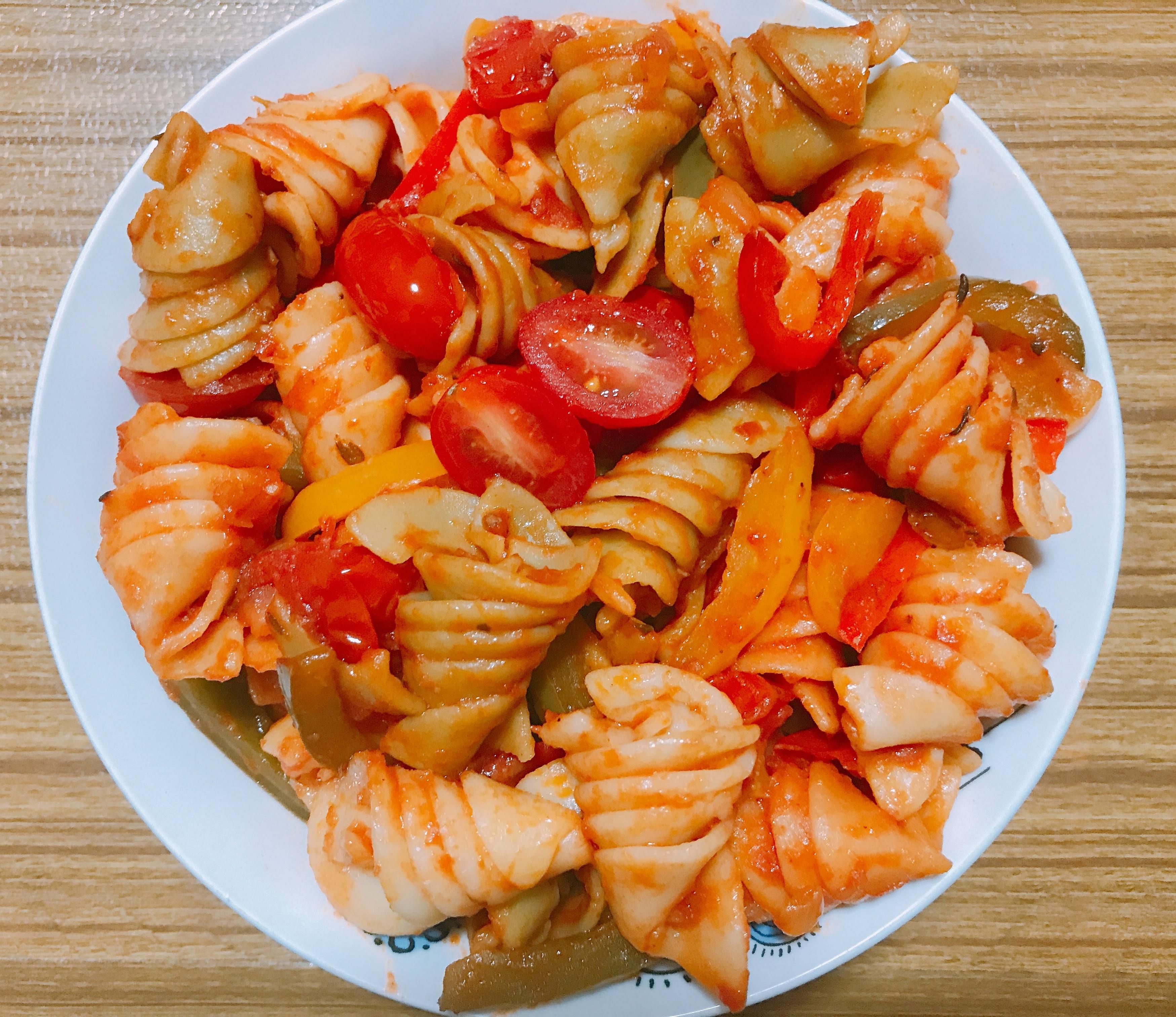 Red Sauce Tomato Basil Pasta