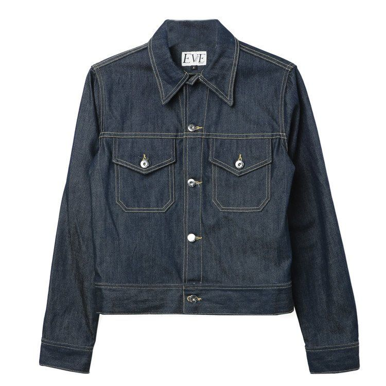 Eve Denim Kaila Jacket Raw Denim. Unwashed, women's denim jacket.