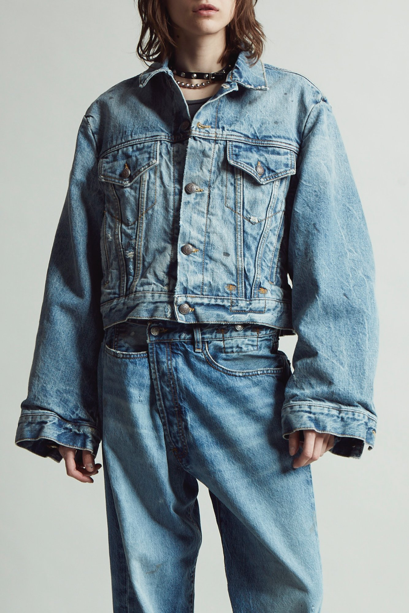 crossover jeans, wrap jeans, denim, jeans denim jacket, frayed jeans, raw hem