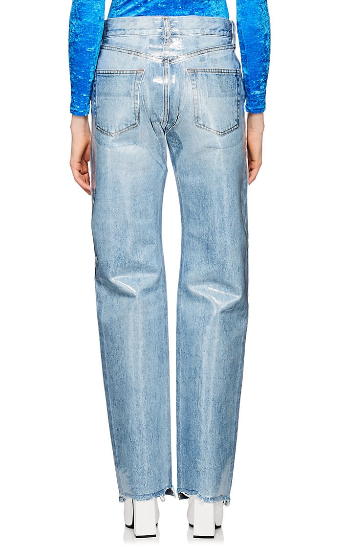 laminated jeans, 501 fit, slouchy jeans, normcore, dad jeans