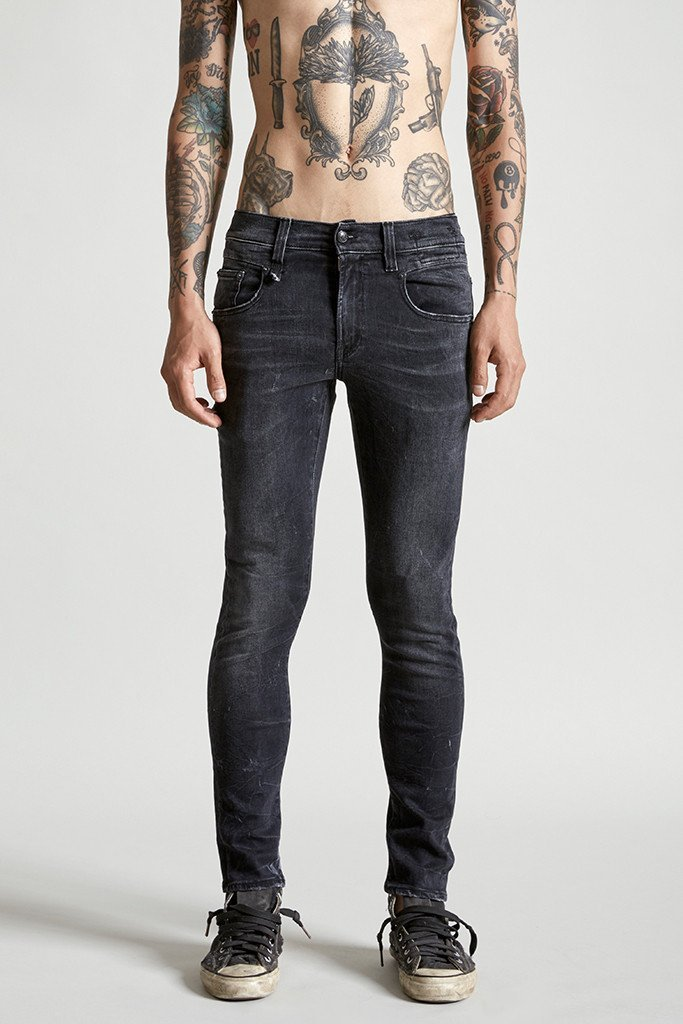 r13 jeans, skinny jeans, washed black denim, stretch jeans