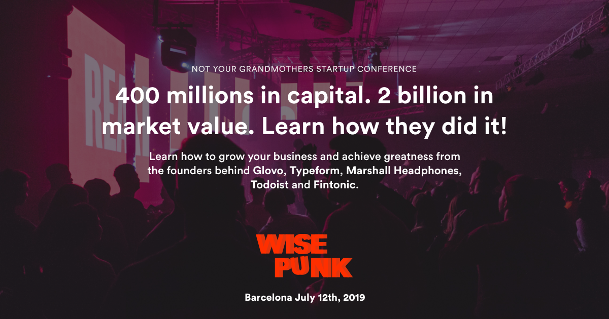 Wisepunk Startup Conference Barcelona October 4th 2019