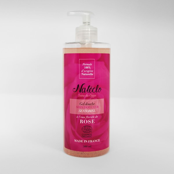 Gel douche Natéclo à la rose, 500mL