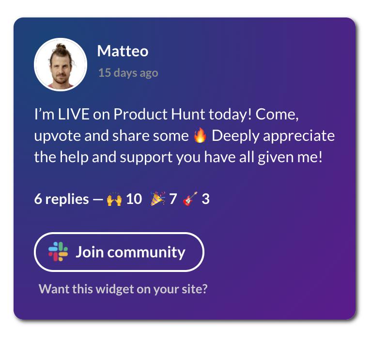 community widget