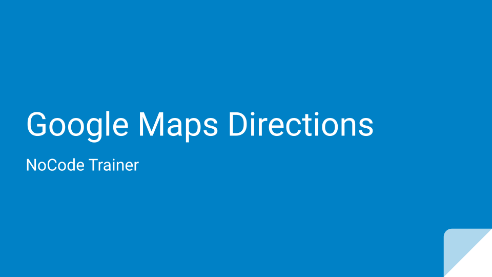 Google Map Directions with Transportation Mode