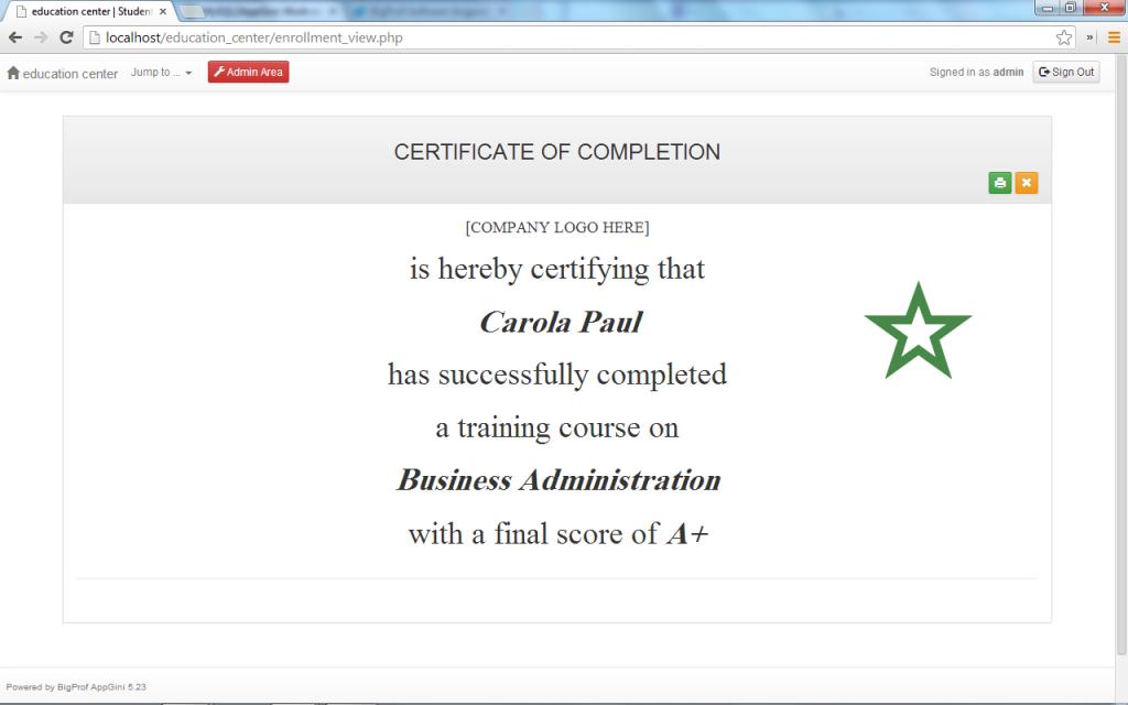 Appgini Applications Online Training Center Manager