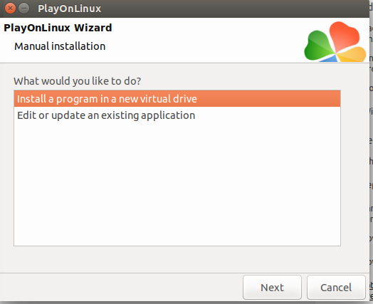 Install on a new virtual drive