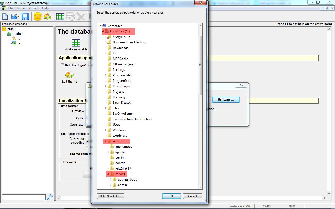 Installing a local testing environment (xampp) - Web