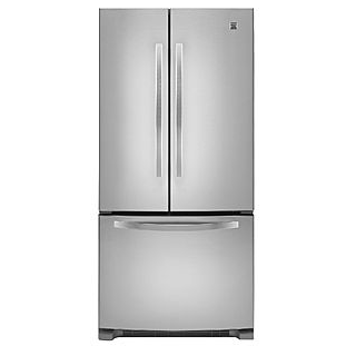 21.9 cu. ft. French-Door Bottom-Freezer Refrigerator w/Internal Dispenser - Stainless Steel