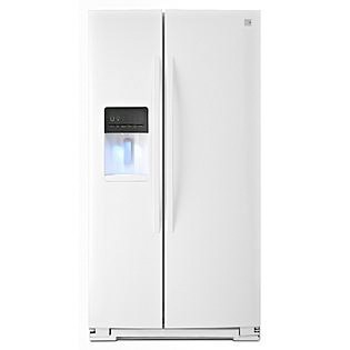 Kenmore  25.4 cu. ft. Side-by-Side Refrigerator - White  ENERGY STAR®