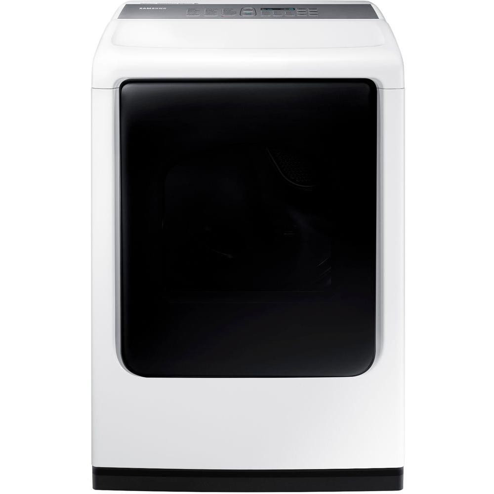 Samsung 7.4 cu ft. Electric Dryer with Mid Controls and Steam in White