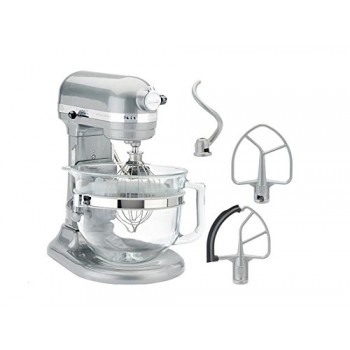 KitchenAid KF26M1QMC Pro 600 Deluxe Stand Mixer, Metallic Chrome, 6 Q