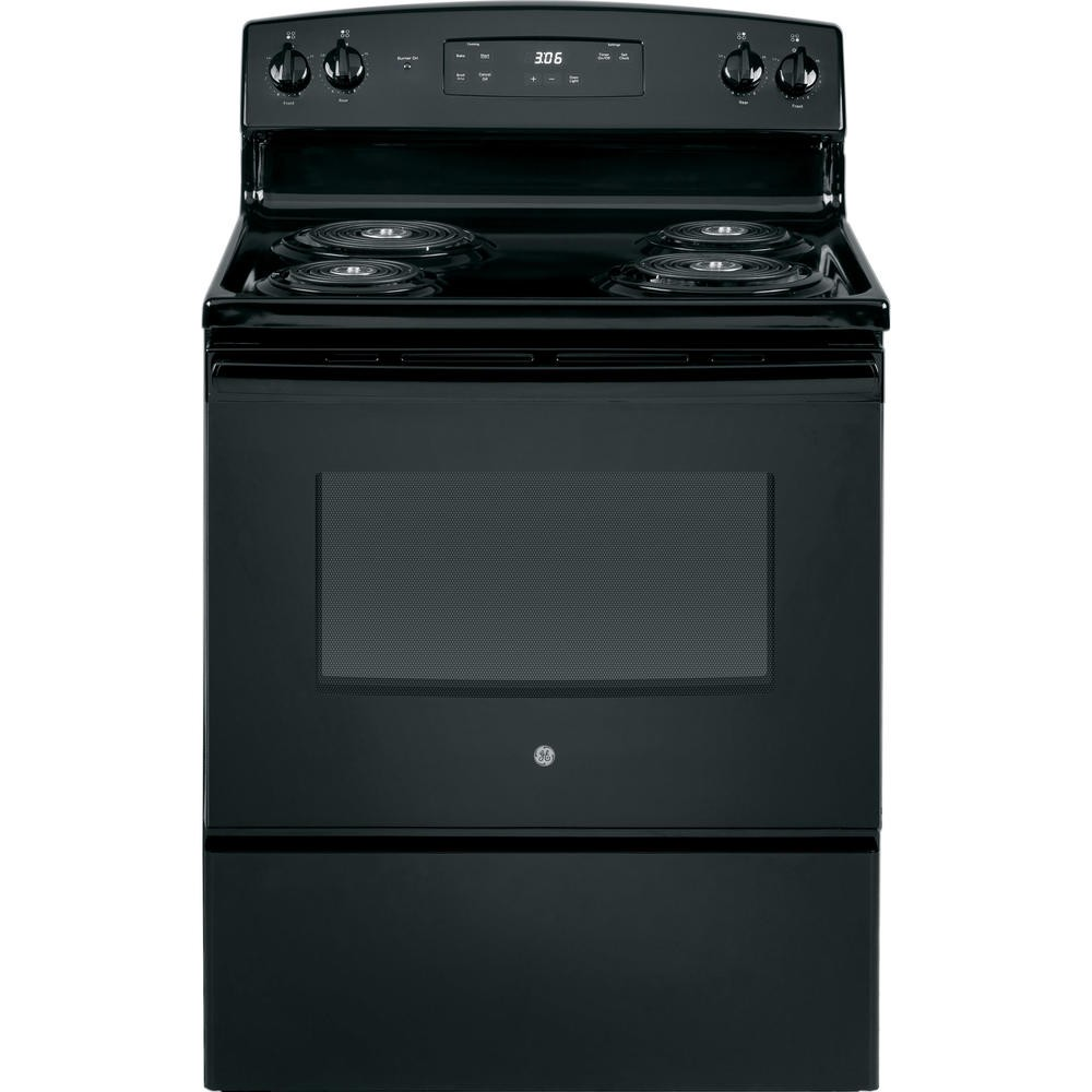 Ge Coil Top 30 Quot Free Standing Electric Range Black