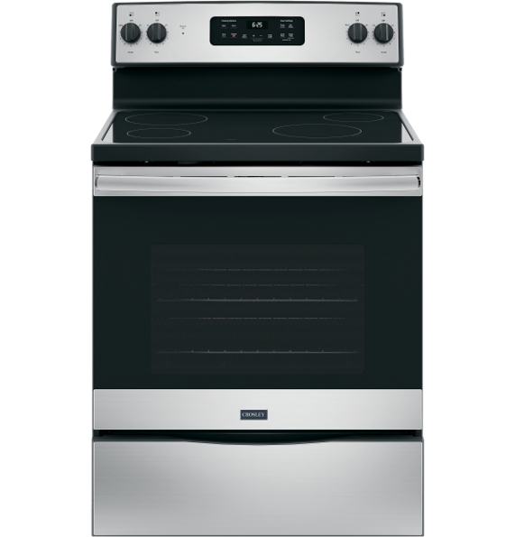 crosley smooth top electric stainless steel range