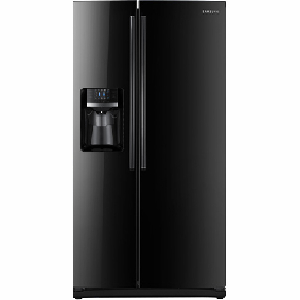 26 Cu Ft Dispenser Refrigerator - Black