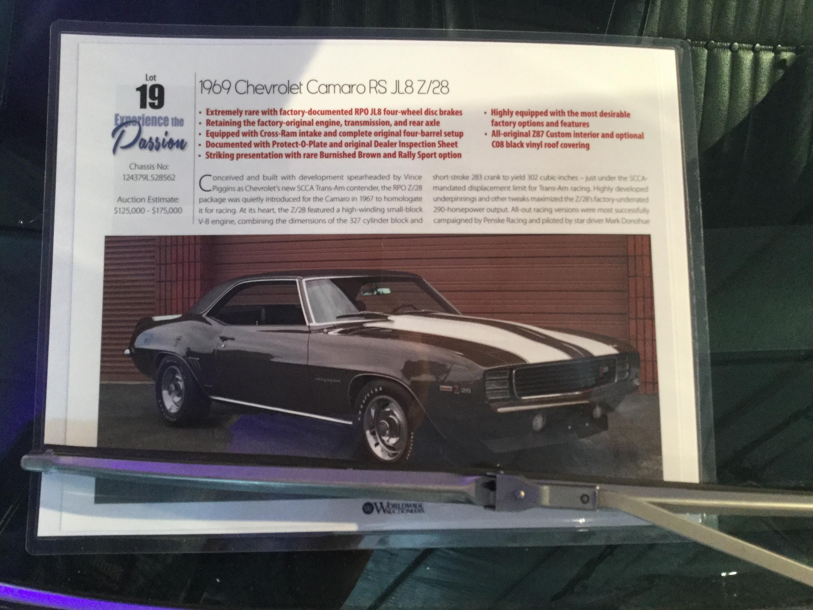 1969 Chevrolet Camaro Values Hagerty Valuation Tool
