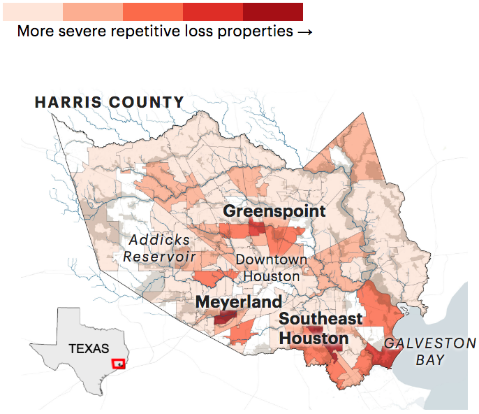 Where the government spends to keep people in floodprone Houston