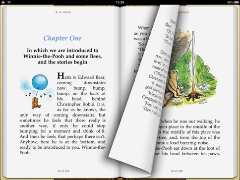 ibook opens books in pdf eader