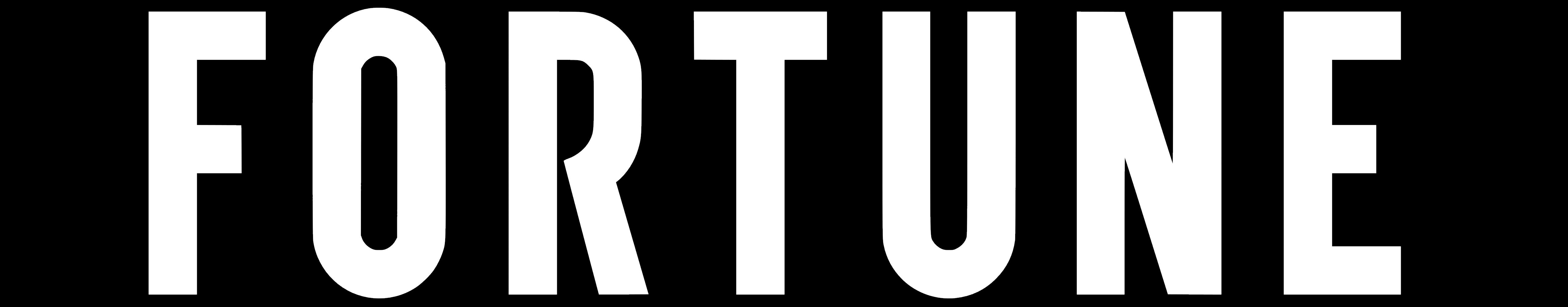 Fortune logo black bg