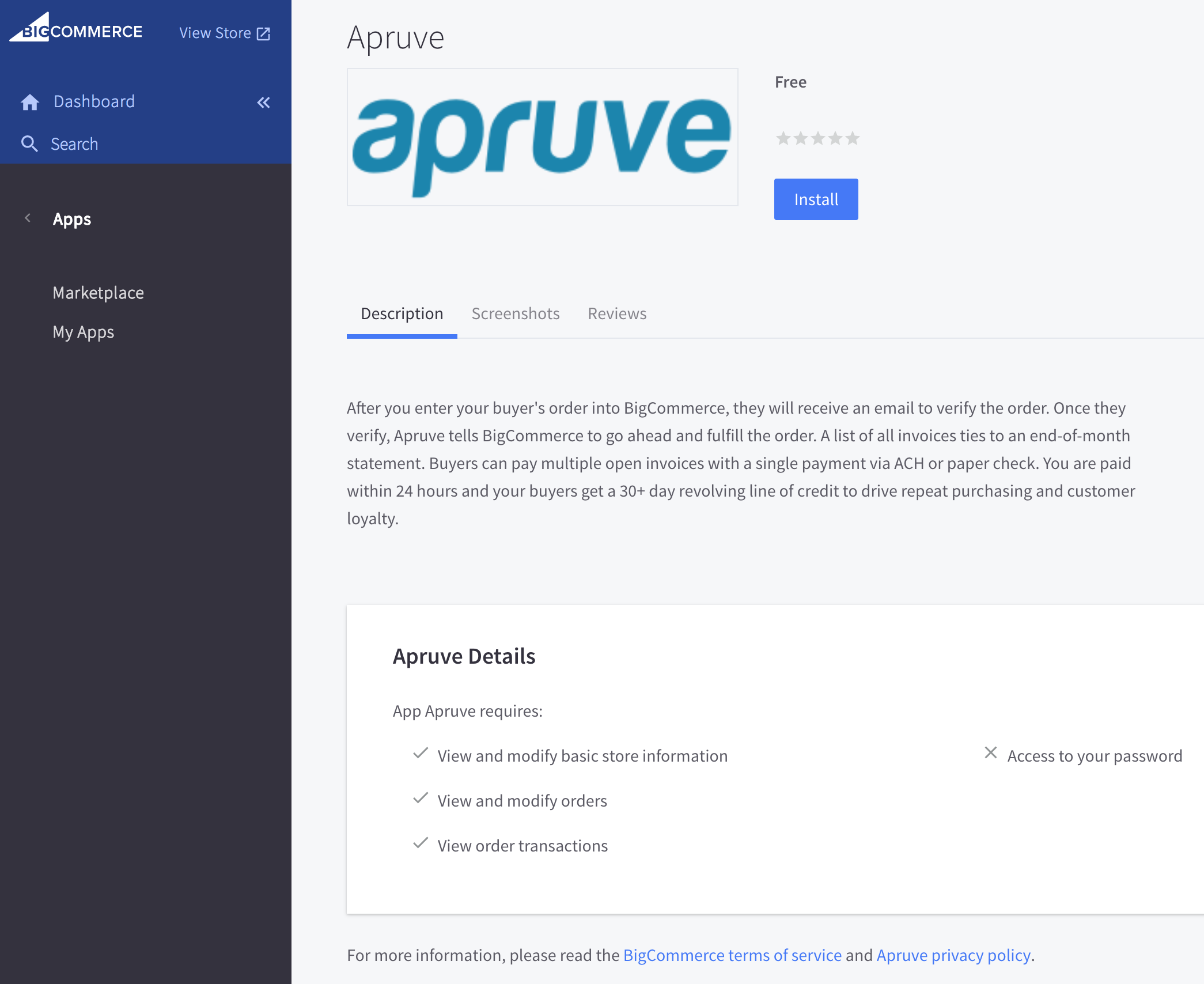 Installing Apruve