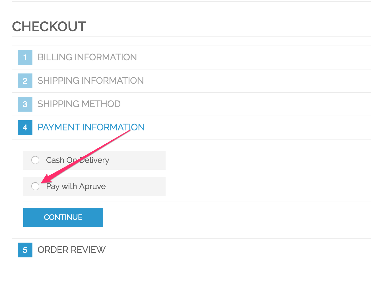 magento checkout with Apruve