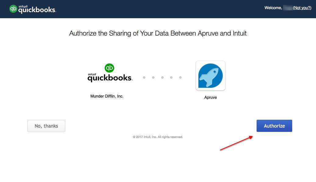 QuickBooks Authorization