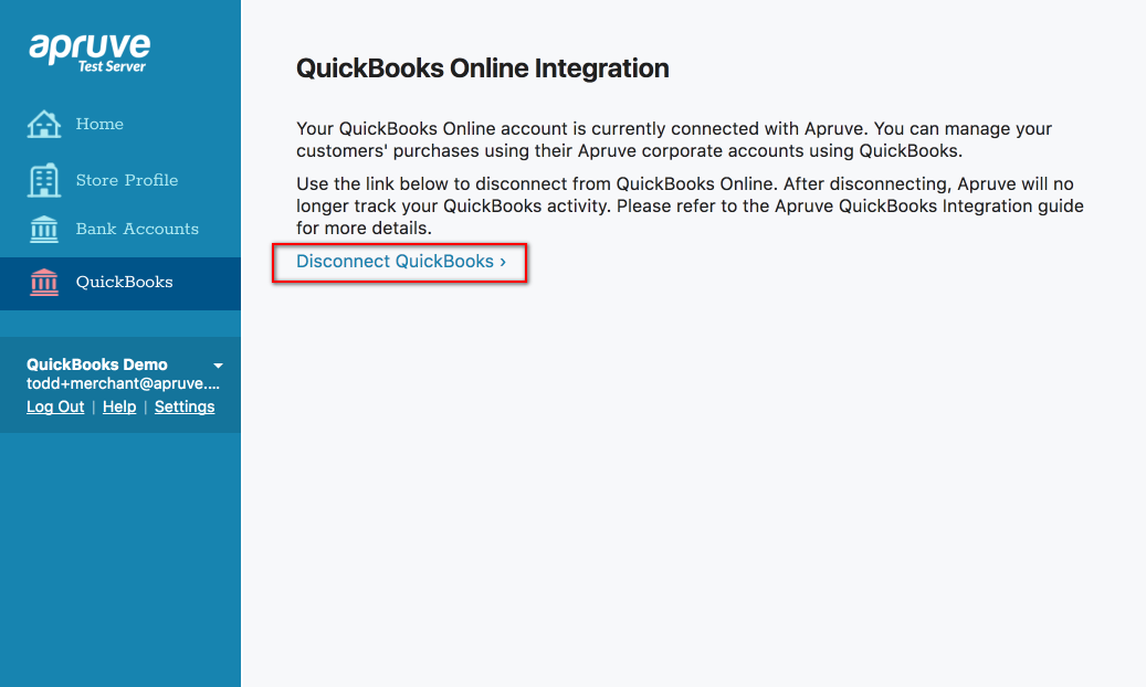Integrating with QuickBooks Online