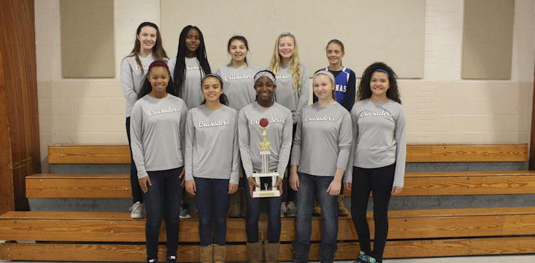 Girls varsity basketball champions trophy carousel