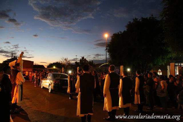 Em Cascavel – PR, após seis anos, a Cavalaria de Maria volta a Paróquia Imaculado Coração de Maria