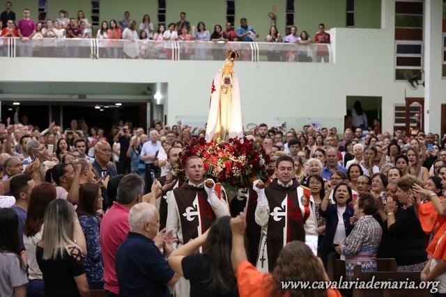 Em Bauru – SP, após 3 anos, a Cavalaria de Maria volta a Paróquia São Benedito