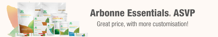 Arbonne Essentials ASVP - Same great price, with more customisation!