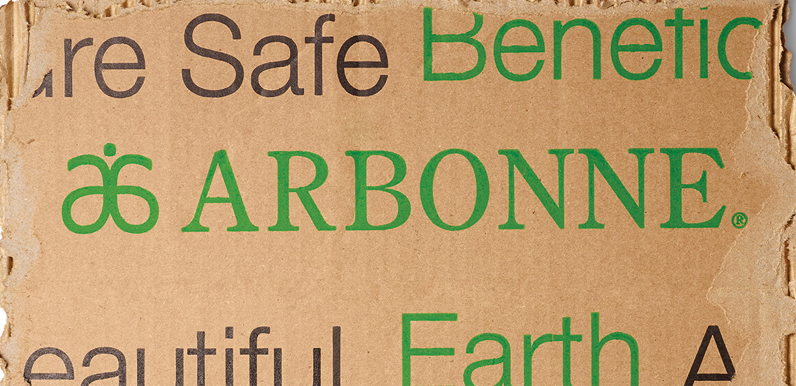 Arbonne delivery wrapper recyclable packaging