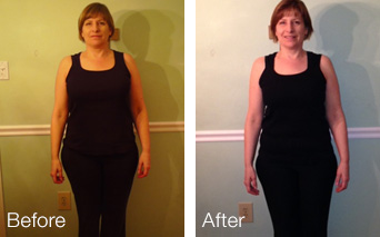 Evolution Challenge Before and After pictures - Pennie Hawkings