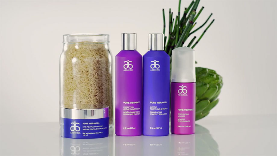 Video introducing Arbonne Pure VIbrance Hair Care Products
