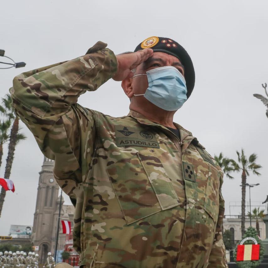 Foto del autor: Jefe del Comando Conjunto de las FF.AA.  César Astudillo