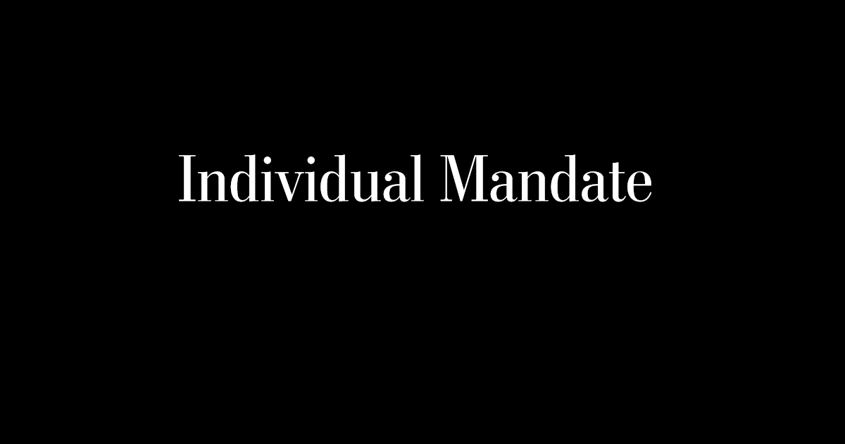 Image result for individual mandate images