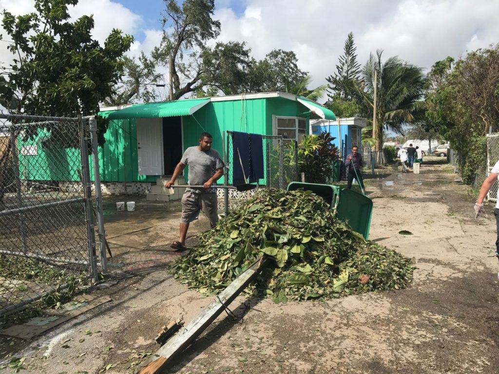 Residents Of The Royal Duke Trailer Court In Miami Clean Up After Hurricane Irma Perry Stein