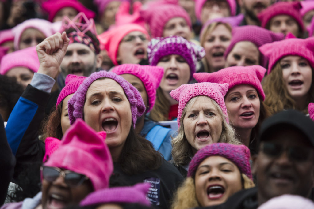 WASHINGTON, DC- JAN 21- Groups gather for the Women's March on Washington on Saturday, Jan. 21, 2017 in Washington, D.C. (For the Washington Post: Amanda Voisard)